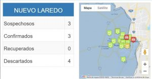 Covid-19: Confirman tercer caso en Nuevo Laredo