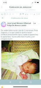 Indigna supuesta venta de bebé para sacarle los órganos