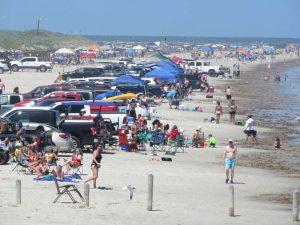 """Parecía 4 de julio"", así atiborraron Port Aransas, Texas"