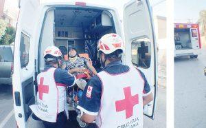 Dos lesionados en encontronazo en centro de Nuevo Laredo