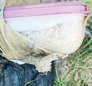 Halla BP enervante oculto en recipiente
