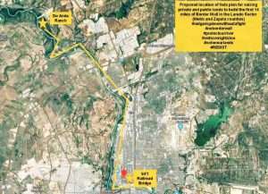 Afectará muro fronterizo 14 vecindarios de Laredo, Texas