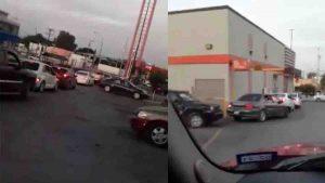 Filas para comprar pizza en Nuevo Laredo hoy sábado (+VIDEO)
