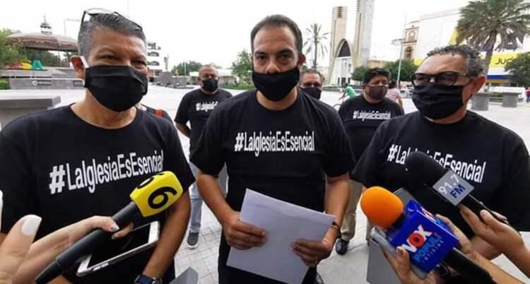 Protestan pastores en Reynosa piden sean considerados escenciales