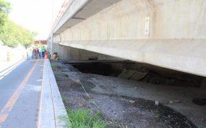 Cierran por tiempo indefinido Puente Madero tras hundimiento (VIDEO)