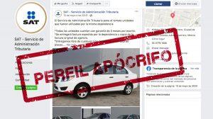 ¡Ten cuidado! SAT alerta sobre página falsa para la venta de autos