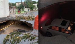 ALERTA: se hunden calles de Nuevo Laredo
