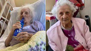 Festeja con una caguama anciana de 103 años al vencer al coronavirus