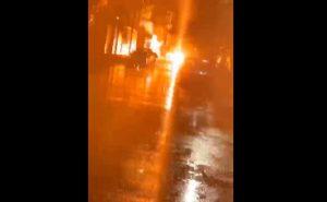 VIDEO: cae supuesto rayo en calles de Nuevo Laredo