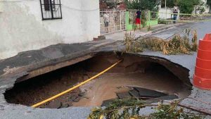 Colonias con riesgo de inundaciones y socavones en Nuevo Laredo