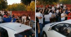 """Así festejaron su graduación sin """"Sana Distancia""""en León"""
