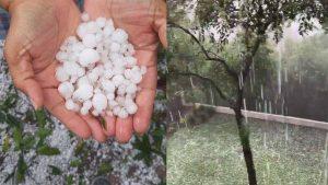 Monterrey: cae granizo en San Pedro y la zona Metropolitana