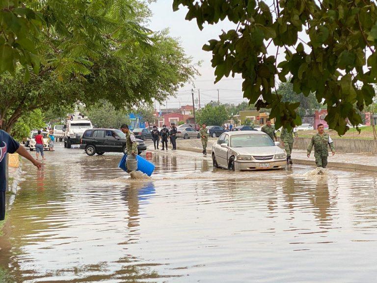 La tormenta de hoy afectó el servicio del agua en la ciudad.