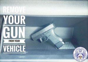 Piden no dejar armas dentro de vehículos