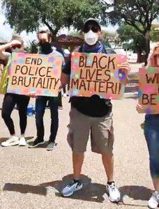 Protestan en Laredo por racismo policial