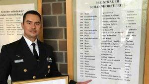 Gamaliel Manzanares el primer mexicano en ganar el premio Scharnhorst Preis en Alemania