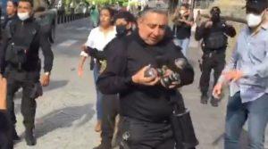 Policía de Jalisco buscaba lanzar gas lacrimógeno a manifestantes