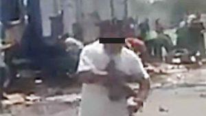 VIDEO Desesperados por cerveza saquean en bola camión repartidor