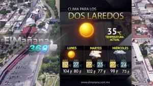 Clima para los Dos Laredos 22 de junio 2020