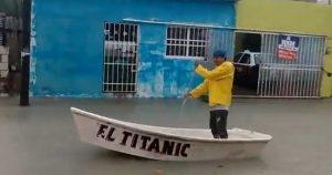Tormenta Cristóbal causa inundaciones en Ciudad del Carmen (VIDEO)