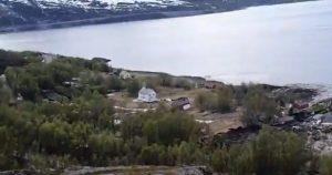 VIDEO VIRAL: deslizamiento de tierra en Noruega se traga casas