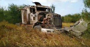 Tres lesionados en choque de trailers en el kilómetro 10 de la Nacional