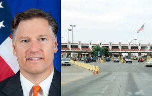 Restricciones en Puentes aumentarán si estadounidenses siguen cruzando: Embajador