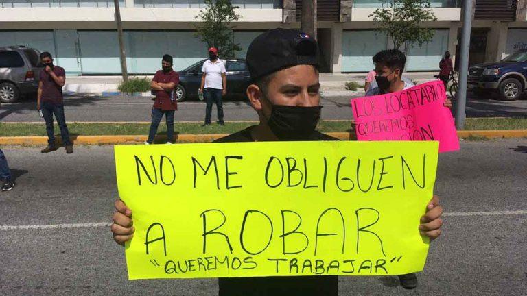 Joven protesta en Ciudad Victoria