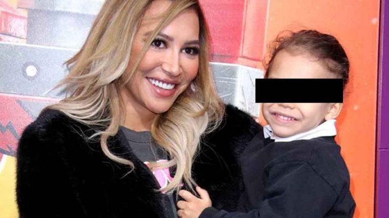 Naya Rivera y su pequeño hijo.