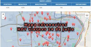 Colonias de Nuevo Laredo con más contagios de Covid-19 hoy 24 de julio, no se registraron nuevos casos