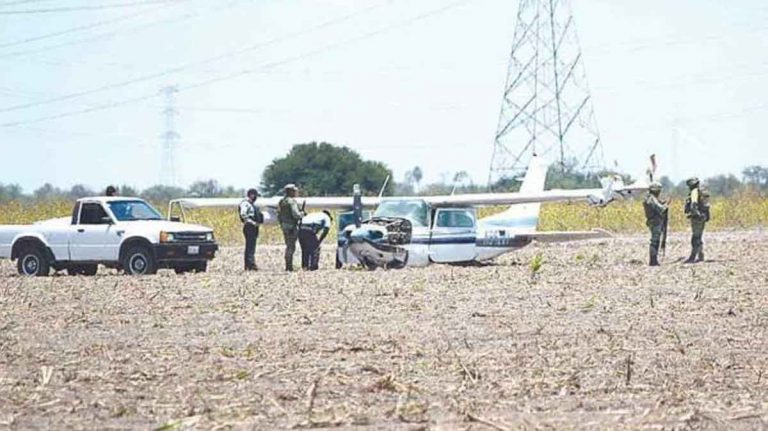 Avioneta accidentada en Reynosa