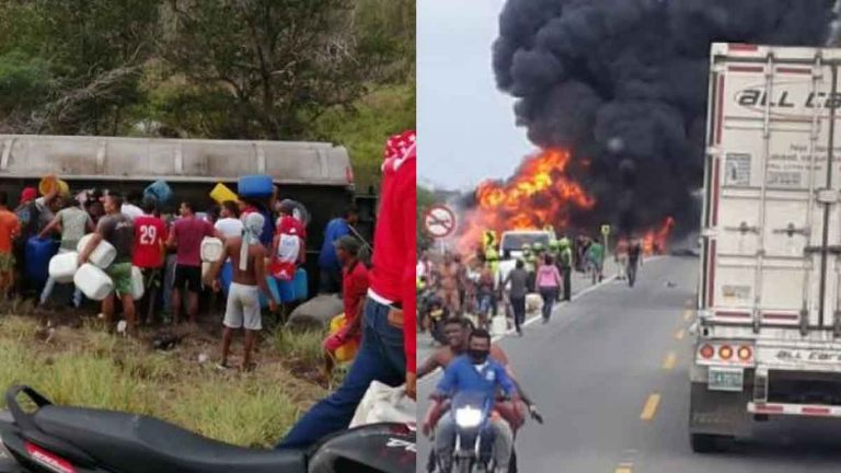 camion explosion colombia