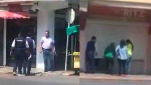 Asi fue el cierre de negocios en el centro de Nuevo Laredo (+VIDEO)