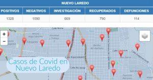 Colonias de Nuevo Laredo con más contagios de Covid-19 hoy 25 de julio