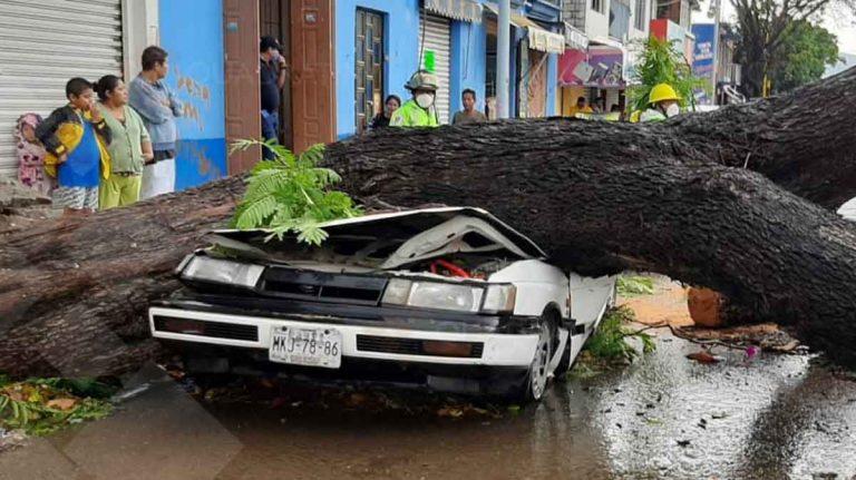 Lluvia fuerte en Oxaca