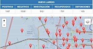 Colonias de Nuevo Laredo con más contagios de Covid-19 hoy 20 de julio