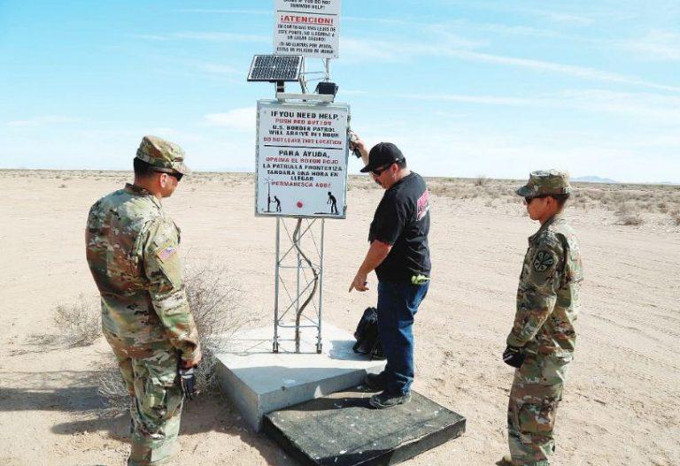Colocan más señalizadores con localizador para auxiliar a inmigrantes