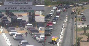 Registran largas filas en Puentes hoy domingo
