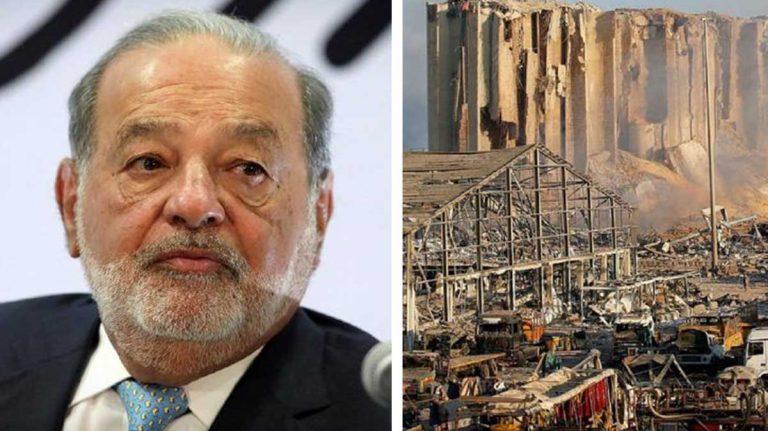 Carlos Slim le entra a la reconstrucción de Beirut