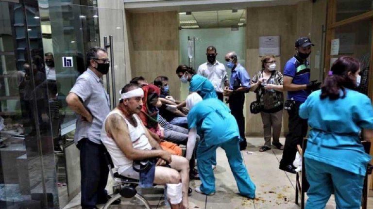 Hospitales saturados en Beirut