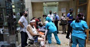 VIDEO: Se registra saturación en hospitales de Beirut tras explosión