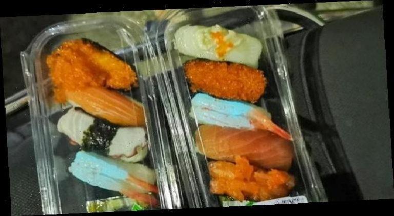 Una familia compró sushi y descubrió que brilla en la oscuridad