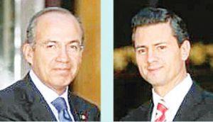 Triplican Felipe Calderón y Peña Nieto la deuda pública