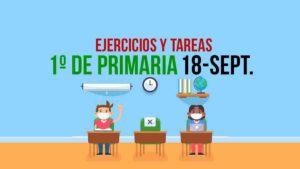 Aprende en Casa, actividades y tareas 1º de primaria: 18 de septiembre