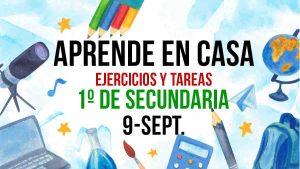 Aprende en Casa: clases y ejercicios 1º de secundaria 9 de septiembre