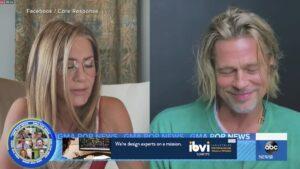 Brad Pitt y Jennifer Aniston se reencuentran virtualmente y esto pasó