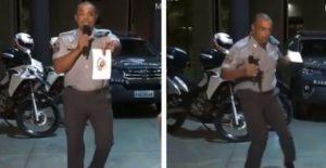 Policía baila para recaudar alimentos para los afectados de la pandemia