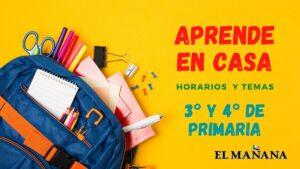 Aprende En Casa: horario y temas 3° y 4° de primaria 28 de septiembre
