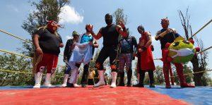 Chinampaluchas: La nueva modalidad de lucha libre en medio de la pandemia