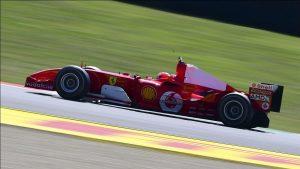 Mick Schumacher manejó el Ferrari con el que su padre ganó el séptimo Mundial